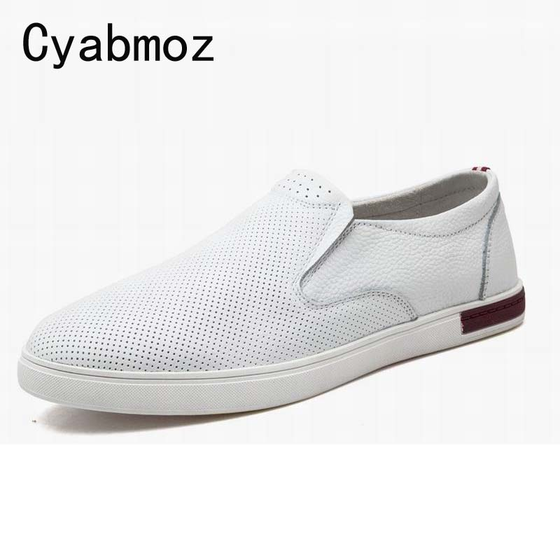 2017 Summer Shoes Men Loafers Moccasins Casual Shoes Man Breathable Genuine Leather Flats Shoes High Quality sapatos masculinos 2017 new brand breathable men s casual car driving shoes men loafers high quality genuine leather shoes soft moccasins flats