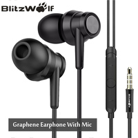 BlitzWolf 3 5mm In Ear Noise Cancelling Earphone Stereo Earbuds Graphene Earphones With Microphone For IPhone