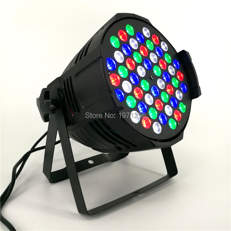 Eyourlife DMX Led Par 54X3W RGBW Stage Par Light Wash Dimming Strobe Lighting Effect Lights for Disco DJ Party Show