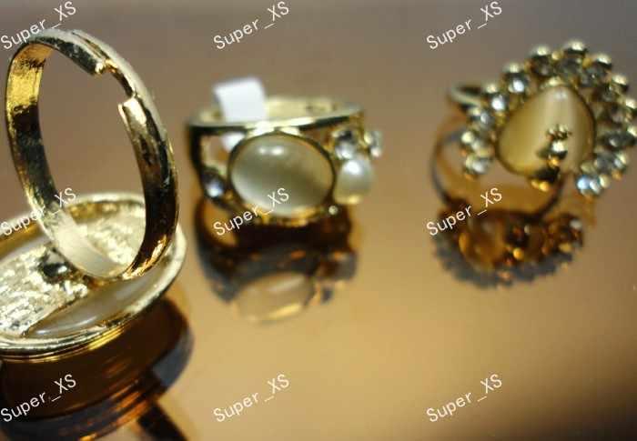 10 ชิ้นทั้งหมดธรรมชาติโอปอล Cat eye Stone Rhinestones แหวนแฟชั่นเครื่องประดับจำนวนมาก LR290