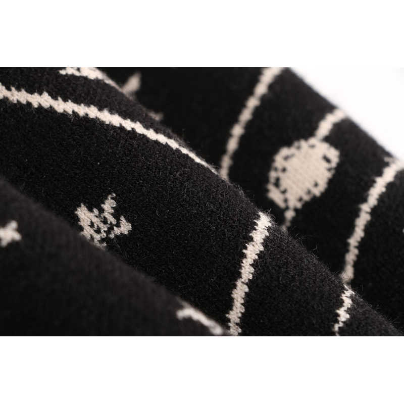 2018 женские жаккардовые свитера на осень и зиму, пуловеры в стиле ретро с рисунком галактики и звезд, Женские винтажные джемперы с длинным рукавом