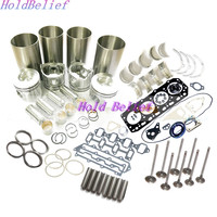 Overhaul Rebuild Kit Engine Part For Yanmar Engine 4TNE88 For Komatsu SK714 4D88E Free Shipping