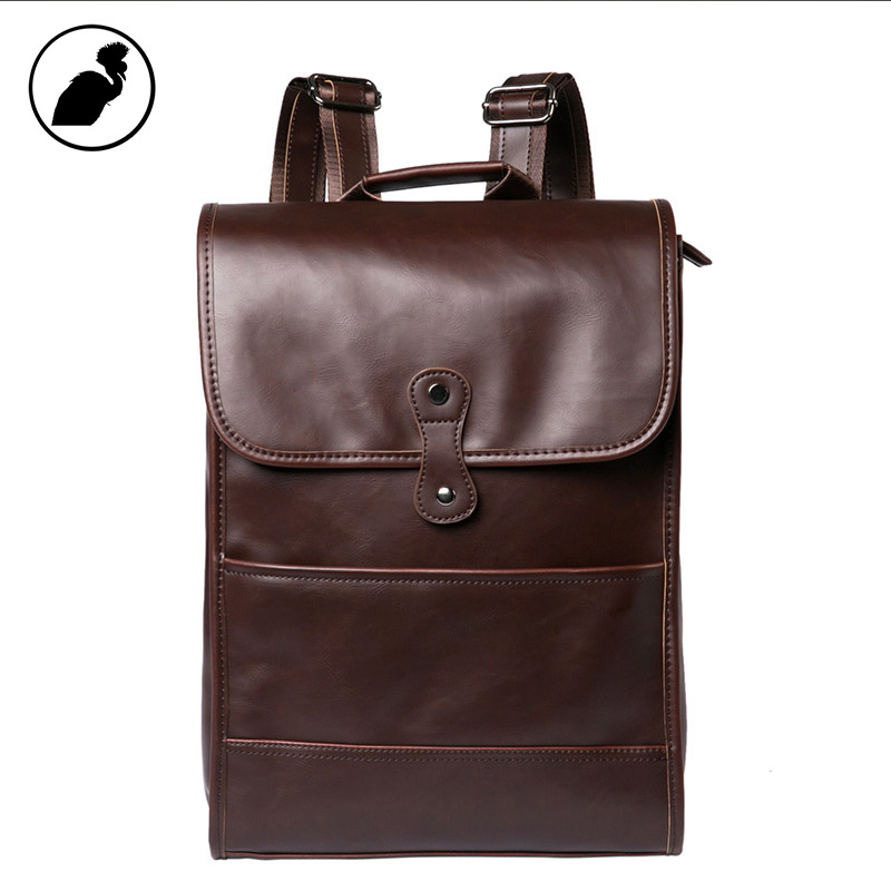 ETONWEAG Famous Brands Leather Schoolbag Backpack Women Brown Vintage School Bags For Teenagers Travel Laptop Bag Casual Luggage male bag vintage cow leather school bags for teenagers travel laptop bag casual shoulder bags men backpacksreal leather backpack