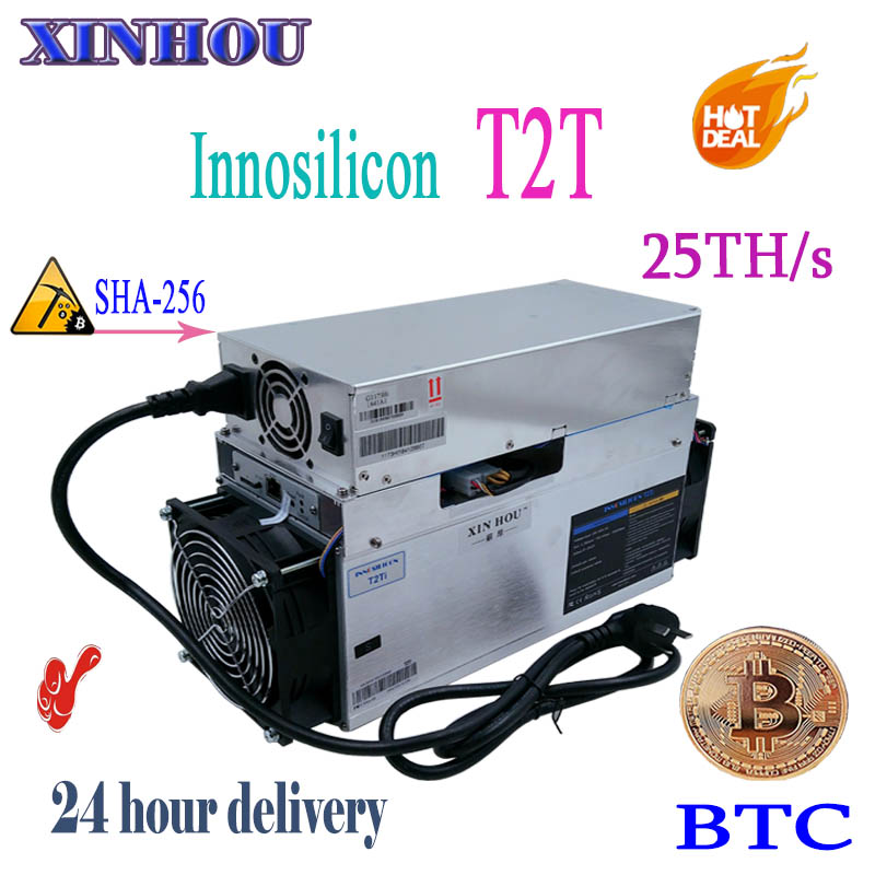 BTC BCH mineur Innosilicon T2 Turbo (T2T) 25TH/S SHA256 asic mineur de bitcoin mieux que A9 antminer S9 S9i s9j T9 z9 quoi de plus m3X
