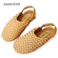 2018 summer Kids sandals Braided shoes Children fisherman shoes vintage girls Hand woven leather shoes boy beach Braided sandals