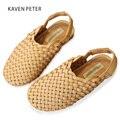 2018 verano niños Sandalias Zapatos trenzados niños pescador zapatos vintage niñas cuero tejida a mano zapatos playa sandalias trenzadas