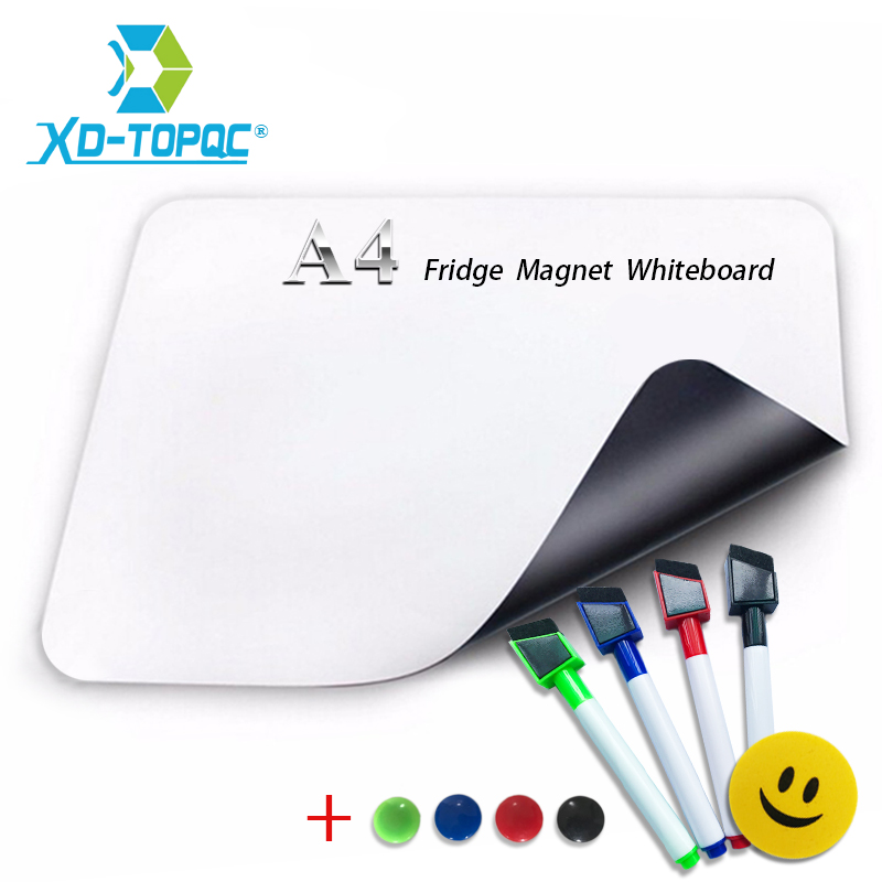 XINDI A4 Mini Whiteboard 8.3″ x 11.7″ Soft Fridge Magnet Kid Flexible PET Film Message Board Magnetic Refrigerator Notes FM04