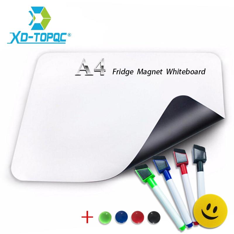 XINDI A4 Mini Whiteboard 8.3 x 11.7 Soft Fridge Magnet Kid Flexible PET Film Message Board Magnetic Refrigerator Notes FM04