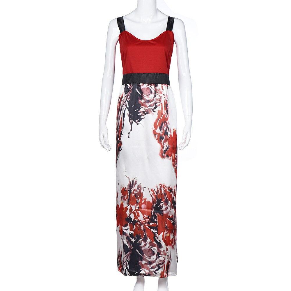 Plus Size Women Floral Printed Long Evening Party Prom Gown Formal Dress Robes des grandes tailles Vestidos dos grandes tamanhos
