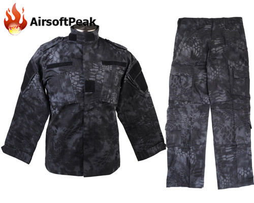 Men's Hunting Airsoft Military Ghillie Suit BDU Combat Tactical Uniform Zipper Long Sleeve Typhon Field Shirt Jacket Pant airsoft adults cs field game skeleton warrior skull paintball mask
