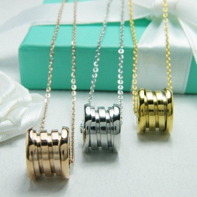 2016 marcas de moda de lujo de alta calidad de tornillos de acero inoxidable Colgante de Collar de regalo de amor de Carter