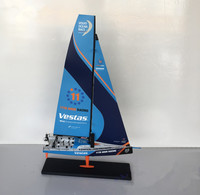 Diecast Toy Model Gift 1:50 Scale MOTORART Vestas VOLVO OCEAN RACE Sailing Yacht Vehicles Alloy Model for Decoration,Collection