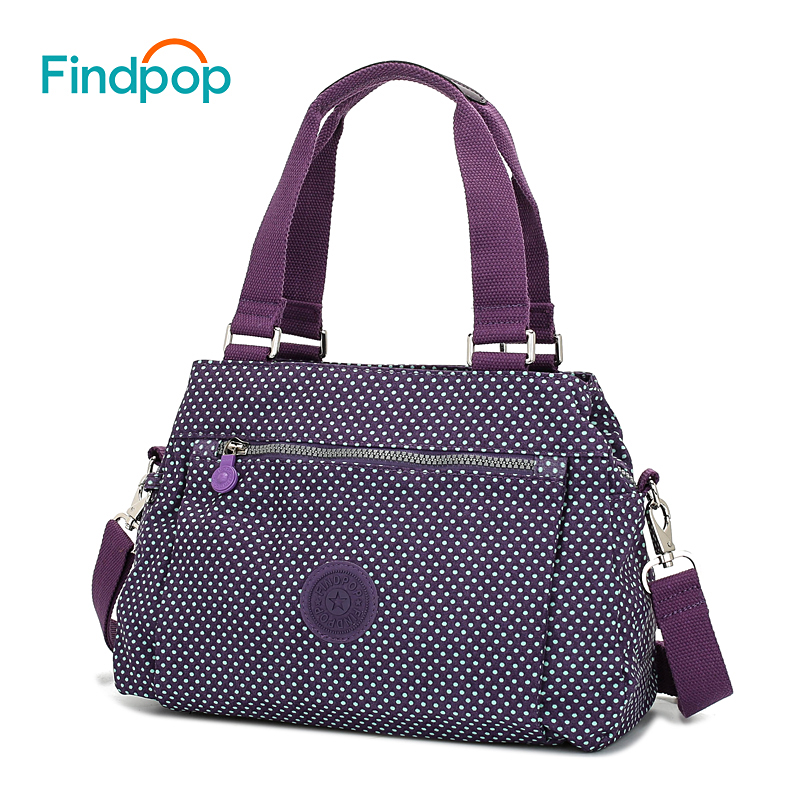 Findpop Floral Printing Handbag Fashion Waterproof Nylon Crossbody Bag For Women 2017 Large Capacity Casual Shell Top-Handle Bag luminarc салатник luminarc nordic epona 18 см