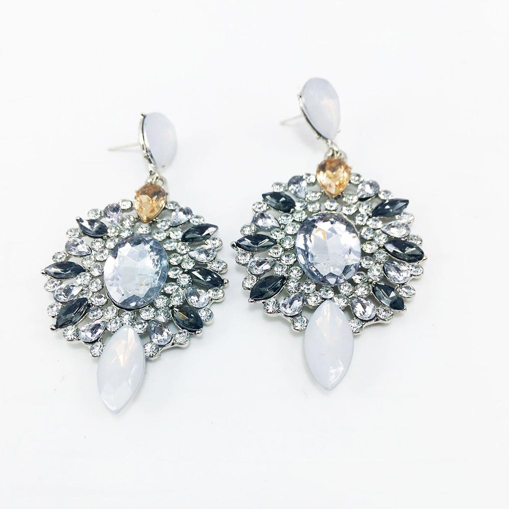 18 Popular 1 pair Women Girls Jewelry Crystal Teardrop Stud