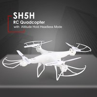 SH5H 2.4G 4CH Mini Smart RC Drone Quadcopter No Camera Altitude Hold Headless Mode One Key Return LED Light Control Speed Toys