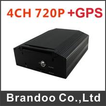 Buy 4CH 720P GPS Car DVR Works with AHD Digital CCTV camera