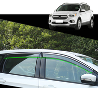 For Ford Kuga Escape 2013 2014 2015 2016 2017 2018 Plastic Window Visor Rain Sun Shield Guard Deflector Trim 4pcs Car Styling
