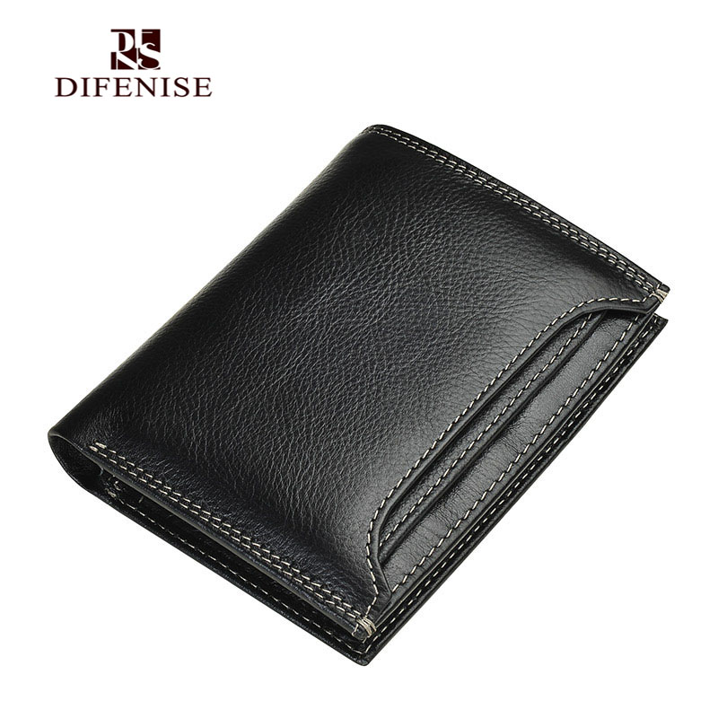 ФОТО Malisiman Brand Design The First layer Cowhide Leather Men Luxury Wallet England Solid No zipper men's Short Mini Wallets