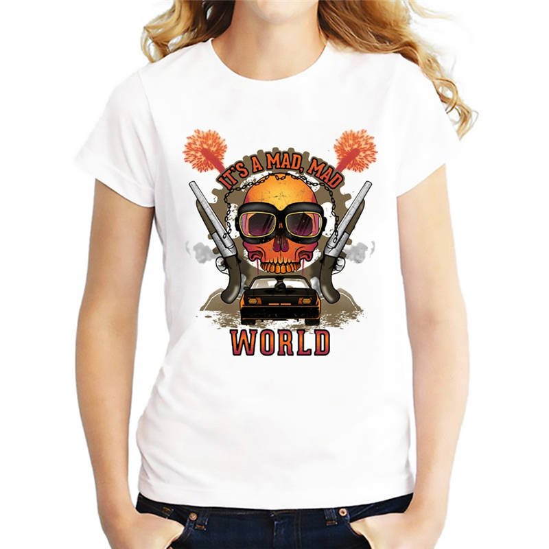 T Shirts For Sale It Is A Mad World WomenS Crew Neck Short-Sleeve Fashion 2018 Tee Shirt ...