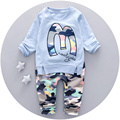 Baby Boy Cotton O-neck Clothes Set Autumn 2016 Fashion Infant Boy Suit Set With Pants For Baby Age 9M-3T Baby Boy Outfits