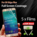 Full Coverage Screen Protector For Samsung Galaxy S6 Edge Plus G9280 Full Size Screen Protective Film For S6 Edge Plus 5F+stand