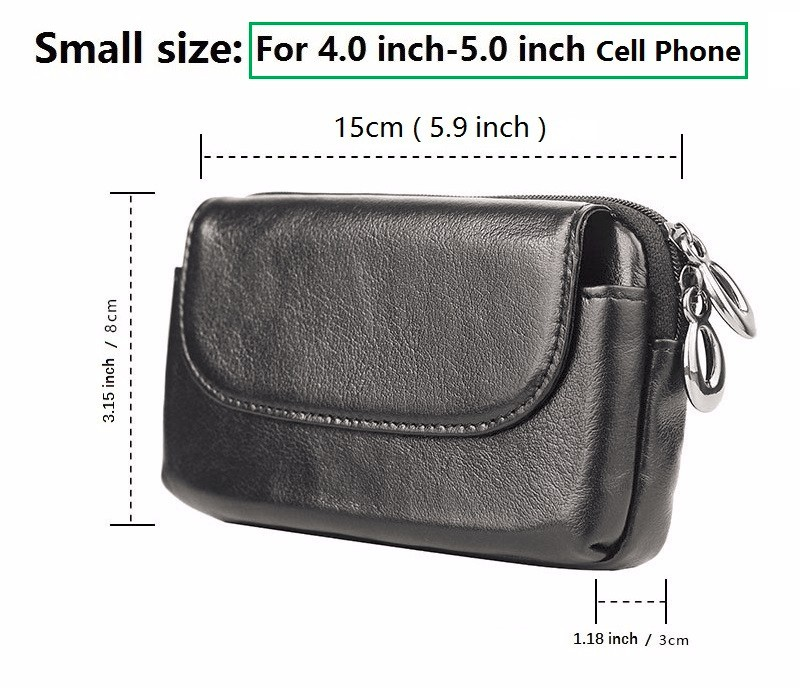 iphone 5 5S 6 7 Genuine Leather belt pouch