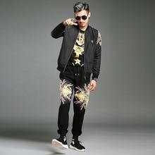 Survetement Homme Marque 2017 Men s Fashion Design Trends Personality Plus Size Tracksuit Mens Jacket And