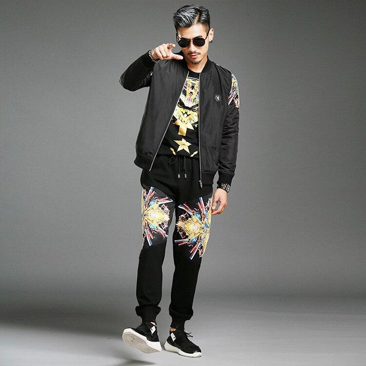 Survetement Homme Marque 2017 font b Men s b font Fashion Design Trends Personality Plus Size