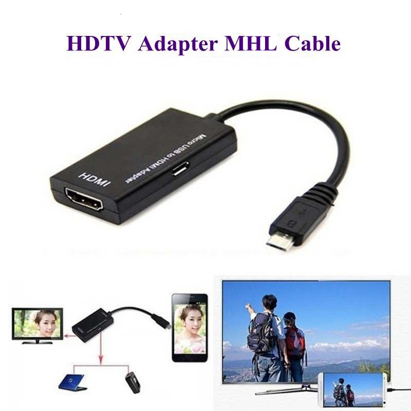 New Micro USB To HDMI Adapter For TV Monitor 1080P HD HDMI Audio Video Cable MHL Converter For Samsung HUAWEI HTC MHL Device