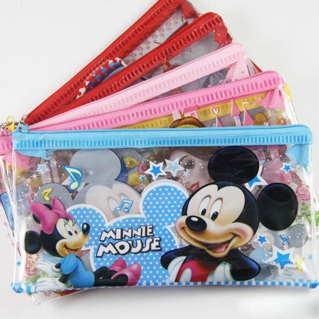 2pcs Lot Cute School Pencil Case For Girls Kawaii Princess Hello Kitty PVC Bag