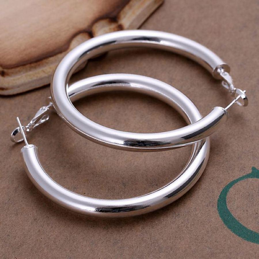 Fashion 925 sterling Silver Pretty 5CM lady wedding women Earring E149