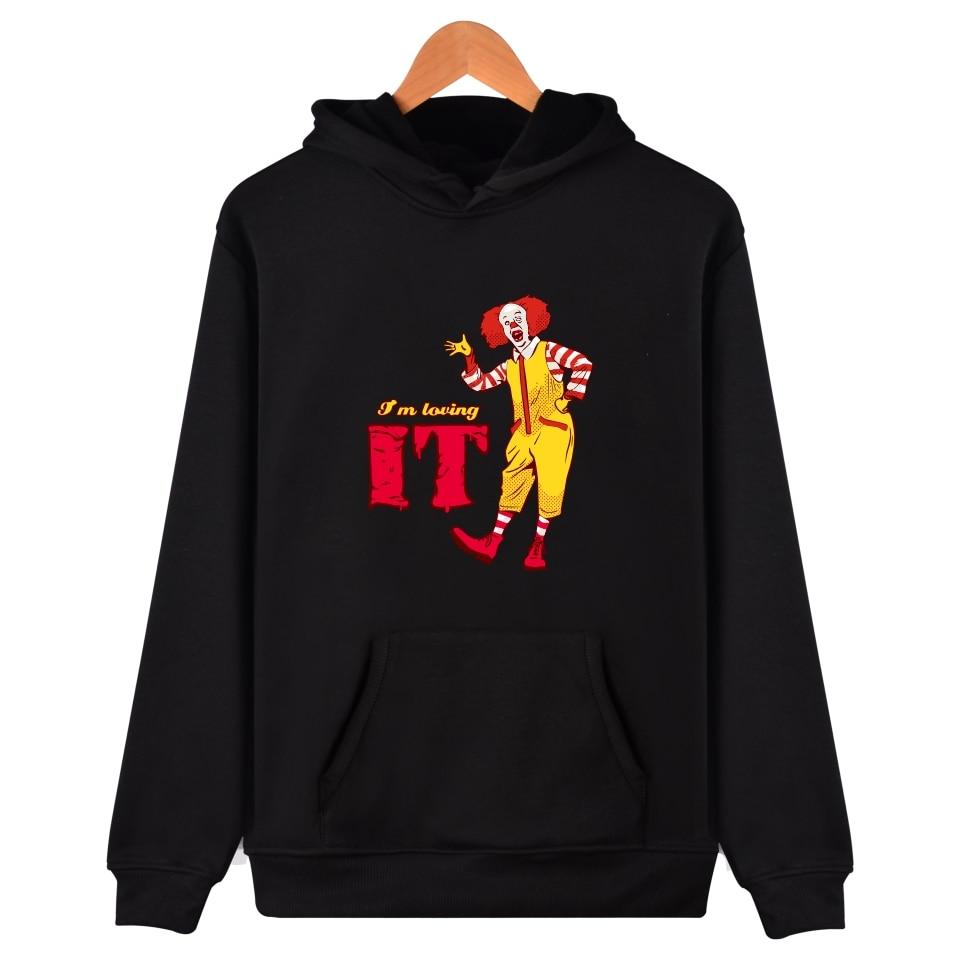 Pennywise hoodies Fashion Oversized Hoodie Funny Hooded Sweatshirts Letter Harajuku Men Printed Hoodies Sweatshirt Pennywise