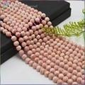 Stock Venta Buen Venas Rodocrosita Natural Suelta Perlas Redondas de 6mm