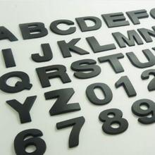 Черная Автомобильная эмблема с буквами алфавита 45 см размеры