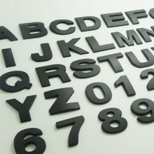 цена на BLACK height 4.5CM Letter alphabet number digit car emblem Letters T U V W X Y Z 1 2 3 4 5 6 7 0 for modify decoration