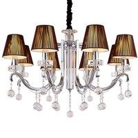 LED Modern Crystal Chandelier E14 Home Lighting Iron Chandelier 110 220v Black Cristal Chandelier Luminarias
