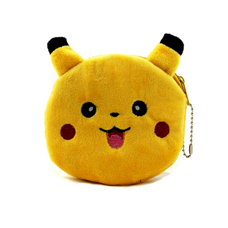 ALIEME Cute Cartoon Coin Purse Pokemon Go Pikachu Plush Children Zipper Change Purse Wallet Minions Pouch Bag For Kids Gift