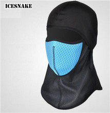 ICESNAKE Motorcycle Winter Cycling Face Mask Filter Mask Sport Ski Masks Bicycle Riding Running Thermal Fleece Face Mask цены