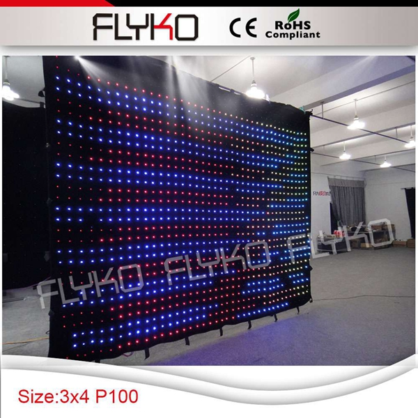 p10 4x3m transparent stage decoration curtain rgb full color led video backdrop curtain led video backdrop full colorled video curtain - title=
