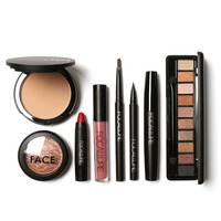 8Pcs Makeup Suit For FOCALLURE Essential For Beginners Brow Pens+Eyeshadow+Powder+Lip+Eyeliner+Mascara+Blush+Lip Gloss Hot New