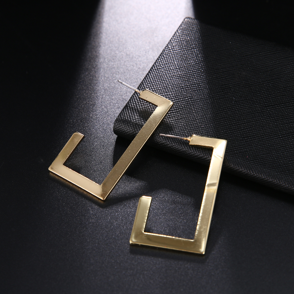 RscvonM Exaggeration Large Geometric Irregular Gold Color Big Metal Dangle Earrings For Women Fashion Punk Statement Earrings 4