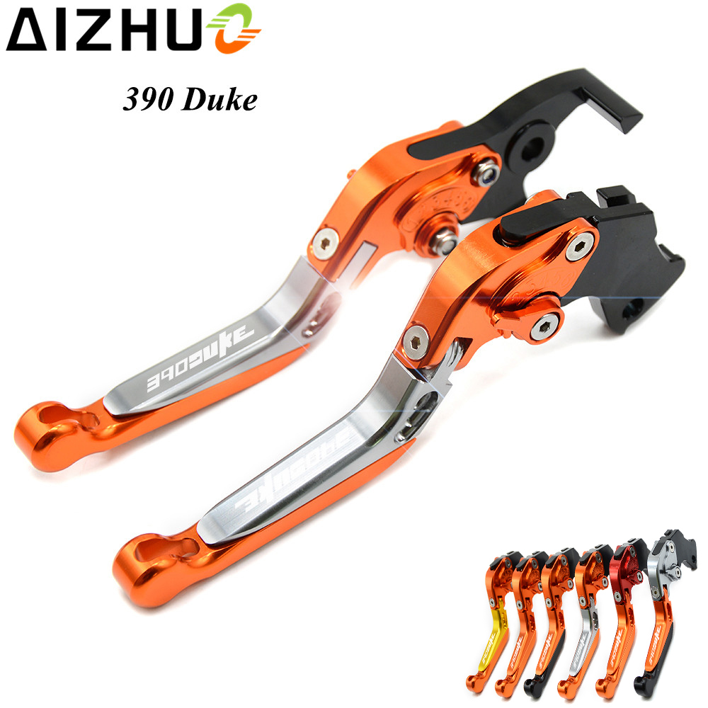 390 Duke LOGO Motorcycle Clutch Brake Lever Motorbike CNC Aluminum Adjustable Brake Clutch Lever For KTM 390 Duke 2013-2016 hot high quality motorcycle accessories cnc aluminum handlebar risers top cover clamp fit for ktm duke 390 200 125 with ktm logo