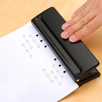 1pc 6 Hole Standard Paper Punch Adjustable Hole Punch Handmade Loose Leaf Notebook Paper Manual Puncher DIY hole punch Tool