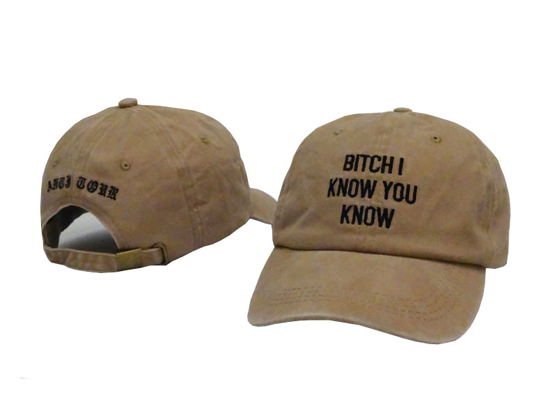 20b4d84c46 Funny cool Rihanna tour hat 6 panel baseball cap winter summer bone gorras  planas hip rap bitch i know you know letters-in Baseball Caps from Apparel  ...