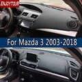 Dla Mazda3 Mazda 3 Axela 2003-2018 skóra Dashmat pokrywa deski rozdzielczej zapobiec światło słoneczne Pad desce rozdzielczej Mat 2007 2008 2009 2013 2014 2016