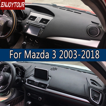 For Mazda3 Mazda 3 Axela 2003-2018 Leather Dashmat Dashboard Cover Prevent Sunlight Pad Dash Mat 2007 2008 2009 2013 2014 2016 стоимость