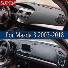 Кожаный коврик для приборной панели Mazda3 Mazda 3 Axela 2003-2018, коврик для защиты от солнечного света, коврик для приборной панели 2007 2008 2009 2013 2014