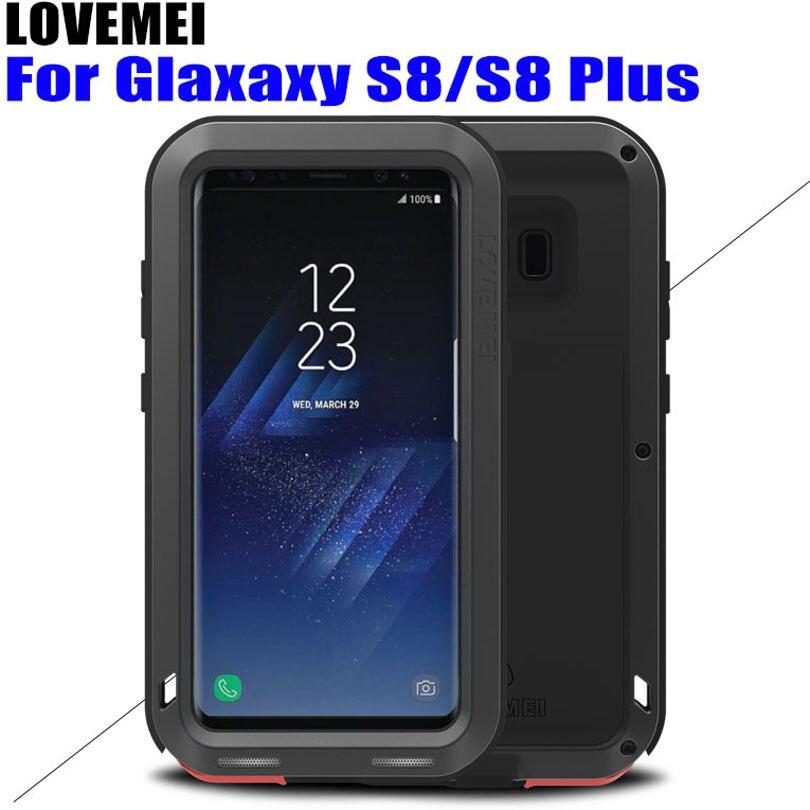 bilder für Für SAMSUNG GALAXY S8 PLUS Ursprüngliche Lovemei Shock Tropfen Proof Aluminum fall für Galaxy S8/S8 Plus S802