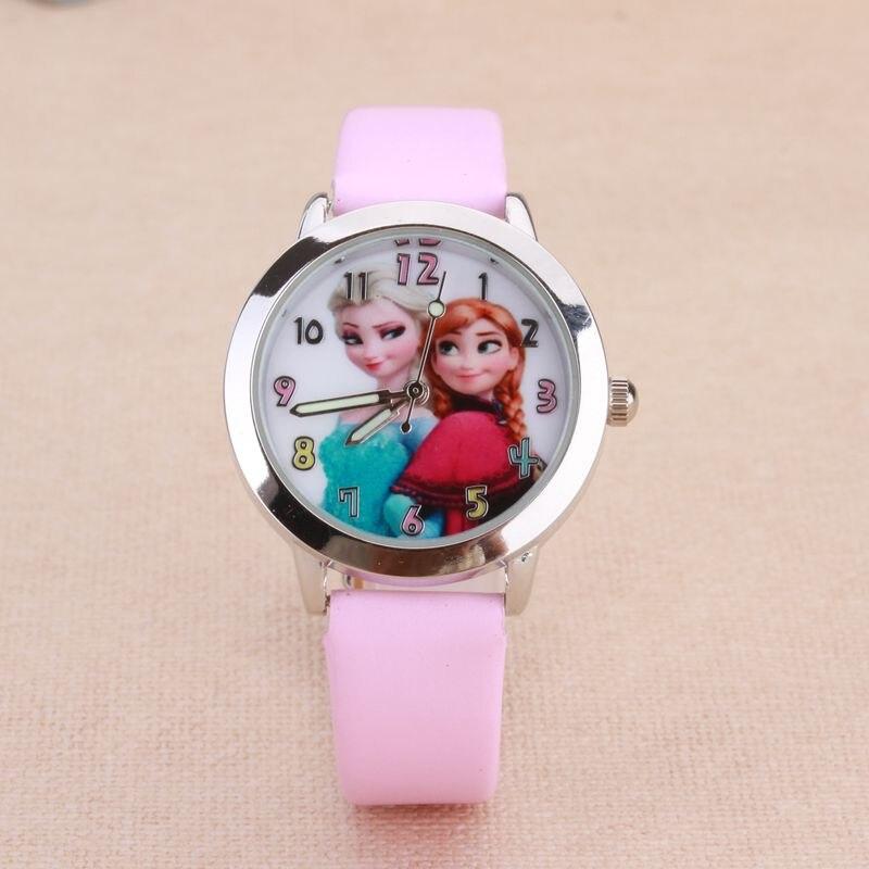 New Cartoon Elsa Anna Children Digital Watch Girls Kids Boys Sports Watches Student Clock Wristwatch Relojes Saat