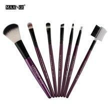 7pcs kits Professional Nylon Makeup Brushes Set Cosmetics Foundation Brush Tools For Face Powder Eye Shadow